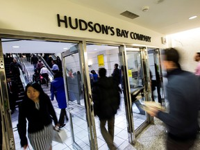 Hudson's Bay Co has been fighting a tough retail environment as e-commerce behemoth Amazon.com Inc and other department stores such as Macy's and Nordstrom Inc continue to swoop up more customers with discounts.