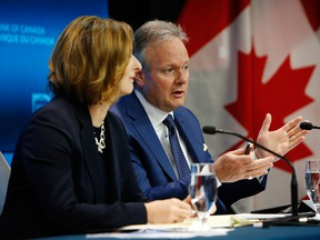 ephen Poloz, governor of the Bank of Canada, right, speaks while Carolyn Wilkins, senior deputy governor at the Bank of Canada, listens during a press conference in Ottawa, in July.