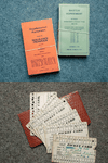 Top, Rebecca Keetch believes agreements between the company and the employees from 1979, preserved by her grandfather, might help make a case for more just severance packages. Above, GM picket cards that were used during strikes to ensure that everyone who participated was compensated.