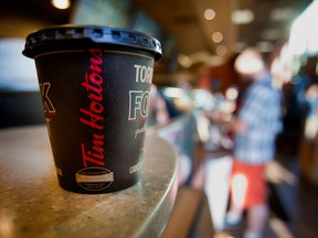 Tim Hortons saw a fall of 1.4 per cent in comparable sales.