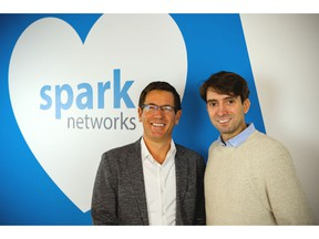 New Spark Networks CEO Erich Eichmann (left) with board director Jeronimo Folgueira