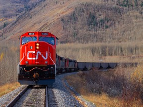 CN Rail carries about $250 billion (US$189 billion) worth of goods annually, including 180,000 barrels a day of oil in September, according to its earnings call.