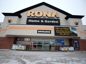 """Rona is banned from using its taglines """"Truly Canadian"""" and """"Proudly Canadian"""" because its owner is now American."""