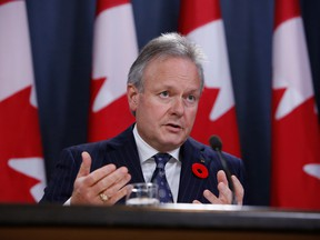 Stephen Poloz, governor of the Bank of Canada, speaks during a press conference in Ottawa.
