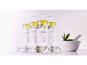 Abacus Health Product's CBD CLINIC Massage Therapy Series, a line of eight new massage oils and creams.