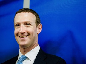 Facebook founder and CEO Mark Zuckerberg at a meeting with the with European Commission vice-president in charge for Values and Transparency, in Brussels, on February 17, 2020.