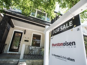 """The CIBC economists wrote that the resale market is now """"basically frozen,"""" with sales and new listings in Toronto down by 69 per cent and 64 per cent on a year-over-year basis as of mid-April."""