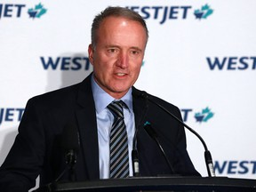 "WestJet president and CEO Ed Sims: The demand for travel has been ""severely limited by restrictive policies and third-party fee increases"" on top of a lack of federal support for the industry."