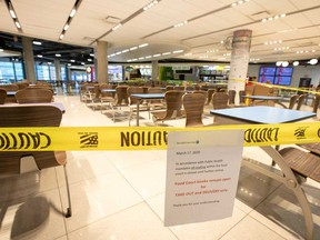 Be prepared to buy companies that may prosper in a full re-opening of the economy, like food courts.