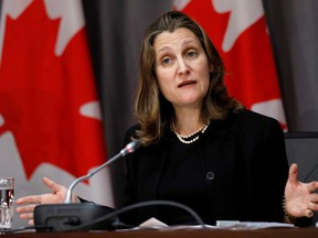 Deputy Prime Minister Chrystia Freeland says Canada will hit back against U.S. tariffs on Canadian aluminum with $3.6 billion in tariffs of our own.
