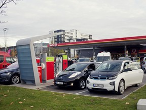 An electric vehicle charging station at a Circle K in Oslo, Norway.