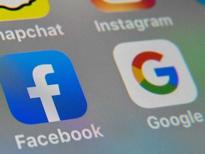 Google and Facebook's share of the digital advertising market in Canada is estimated to be more than 75 per cent, the report says, giving the tech giants outsized power.