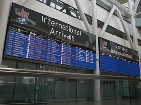 Canada experienced negative international migration due to the COVID-19 travel restrictions in the three months through September.
