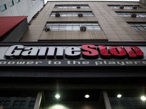 A GameStop Corp store in New York. The stock has more than quadrupled this month.