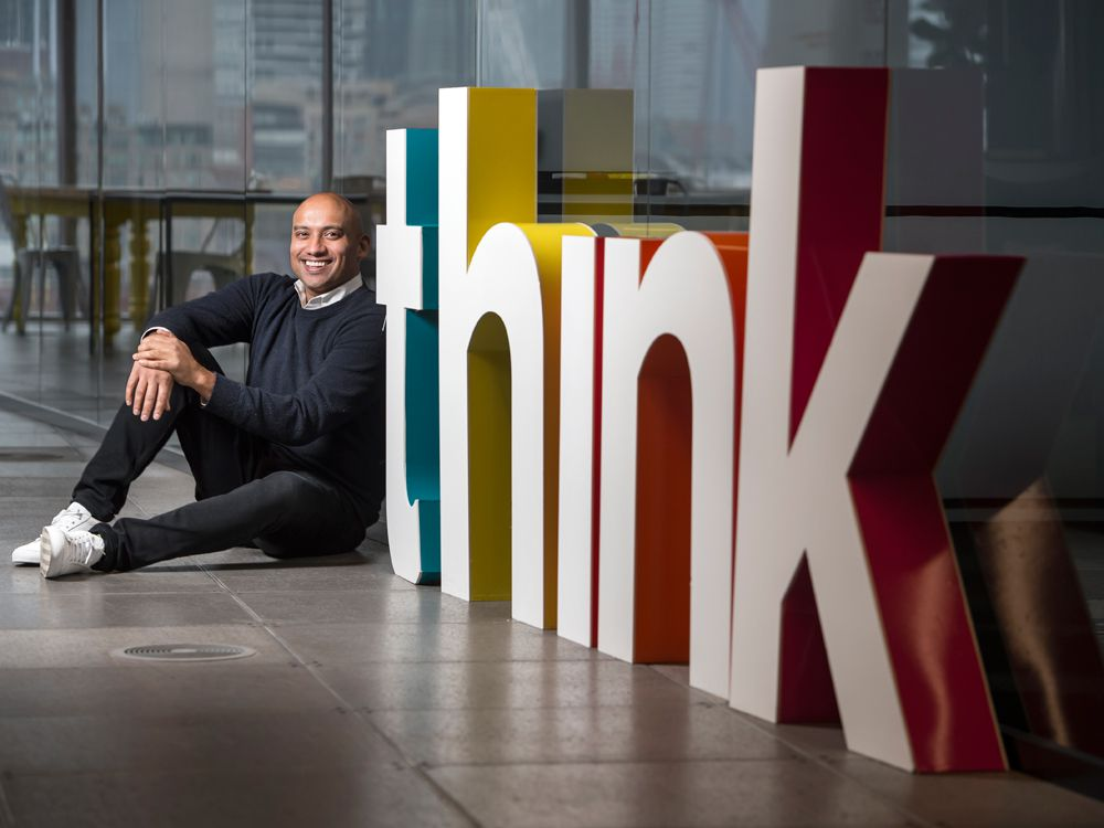Think Research CEO Sachin Aggarwal at the company's offices in Toronto.