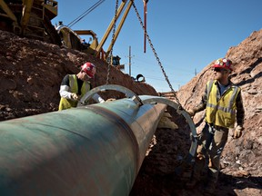 Construction on the Keystone XL pipeline project in Oklahoma, in 2013.