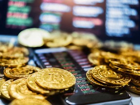 Bitcoin jumped to an all-time high above US$54,000, setting it on course for a weekly jump of more than 11 per cent.