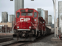 A Canadian Pacific Railway train in Calgary on Monday, March 22, 2021.