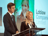 """George Weston Ltd. Chairman and CEO Galen Weston with Loblaw President Sarah Davis in 2017. Weston will be taking over Davis's duties as she """"pursues her plans for an early retirement."""""""