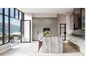 Rendering of ONE Water Street Penthouse Kitchen