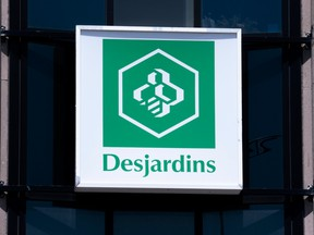 A Desjardins sign in Montreal