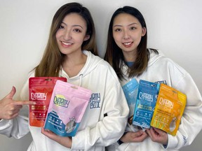 Michelle Ji, left, and Senia Wang co-founded pet-food maker Charmy Box Inc. in 2020.
