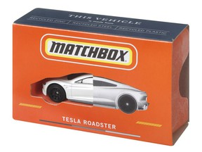 Mattel is unveiling the Matchbox Tesla Roadster, its first die-cast vehicle made from 99% recycled materials and certified CarbonNeutral®*. The Matchbox Tesla Roadster will be available starting in 2022.