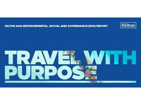 Hilton releases 2020 ESG report, reinforcing commitment to positive global impact.
