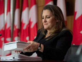 Minister of Finance Chrystia Freeland delivers a hefty federal budget Monday.