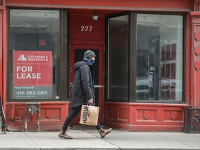A retail space for lease in Toronto.