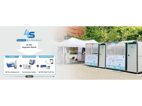SEASUN BIOMATERIALS' 4S system, a one-stop COVID-19 molecular diagnostic system located on the Seoul National University campus.