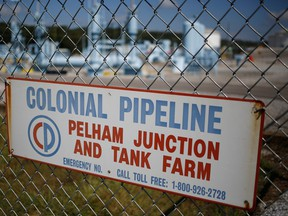 The Colonial Pipeline Co. tank farm in Pelham, Alabama, U.S. Fuel suppliers are growing increasingly nervous about the possibility of gasoline and diesel shortages across the eastern U.S. almost two days after a cyberattack knocked out a massive pipeline.