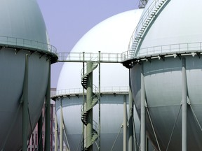 Tokyo Gas Co.'s liquefied natural gas (LNG) tanks stand in Tokyo, Japan. The Asia price premium is something energy firms in countries such as Qatar and Australia are well aware of, which is why they have long been selling their gas into Asia.