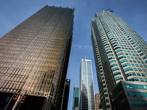 Bank towers in Toronto's financial district.