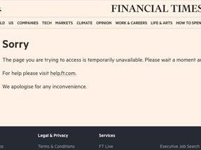 The Financial Times Website at 7 a.m. ET Tuesday.