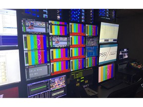 To support the immense global demand for North American content, Telstra has expanded its Americas broadcast business with the launch of a new Broadcast Operations Center at the PSSI International Teleport in Pittsburgh. Shown here is a detail shot of the 24/7 Telstra master control room at the facility, created to provide Telstra's North American customers with a local operational presence, world-class experience and capabilities that accelerate and streamline the worldwide delivery of regional live sports and entertainment content to Europe, Asia and Australia.