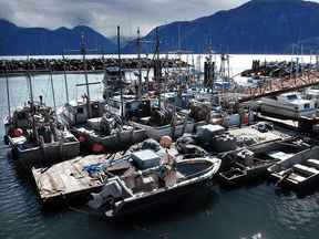 Fishing boats near the Nisga'a village of Gingolx, close to Pearse Island where the 12-million-tonne-per-year LNG project is to be located.