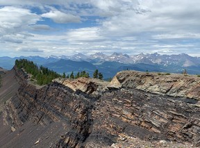 The Grassy Mountain, Alberta looking south west.