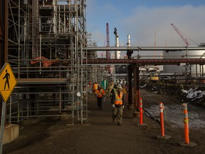 The Sturgeon Refinery under construction in 2016.