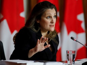 Finance Minister Chrystia Freeland says the government will not, after all, refuse to enforce a private member's bill — Bill C-208 — related to transfers of family businesses that became law in late June.