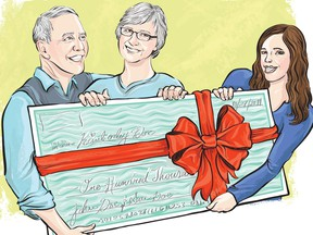 The giving of gifts is generally not a taxable event in Canada.