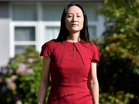 Huawei Technologies Chief Financial Officer Meng Wanzhou leaves her home to attend a court hearing in Vancouver in August.