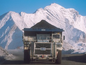 A truck hauls a load at Teck Resources Coal Mountain operation near Sparwood, B.C.