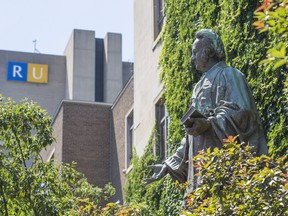 A statue of Egerton Ryerson at the Ryerson University Campus in downtown Toronto.