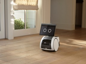 A roving, canine-like household robot called Astro is seen in an undated photograph provided by Amazon.