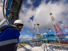The Comprehensive Gas Treatment Unit No.3 at the Gazprom PJSC Chayandinskoye oil, gas and condensate field, a resource base for the Power of Siberia gas pipeline, in the Lensk district of the Sakha Republic, Russia.