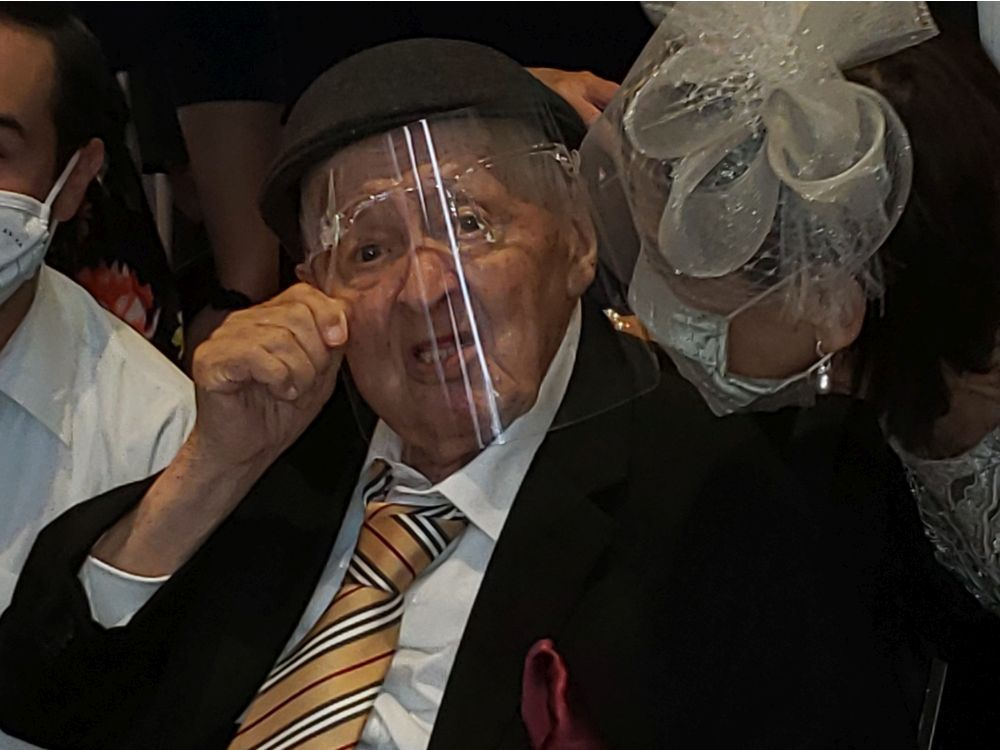 Thadeusz (Ted) Brandt, 102, was able to witness his grandson's wedding in Montreal last weekend. His will to survive made the day possible.