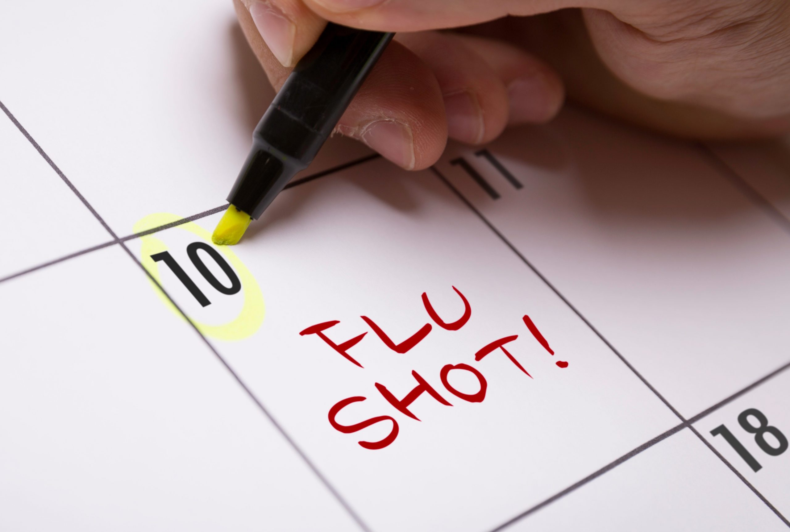 Flu shots in Ontario