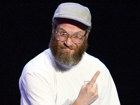 """FILE: Seth Rogen speaks onstage during the """"Drunk History"""" Live Reading Event at The Montalban on Aug. 15, 2019 in Hollywood, Calif. /"""