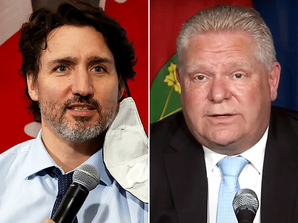 Trudeau and Doug Ford continue war of words over COVID